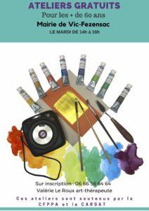 Ateliers d'art-thérapie gratuits +60ans @ Mairie de Vic-Fezensac | Vic-Fezensac | Occitanie | France
